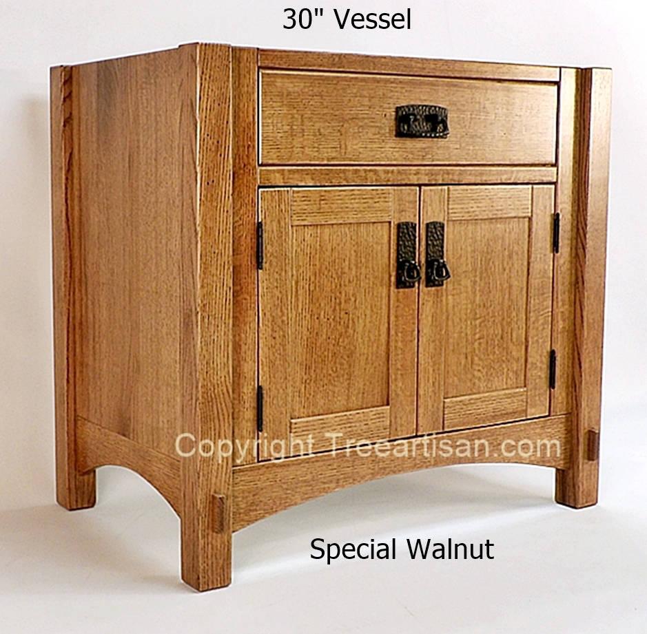 Sink Cabinet Bathroom Vanity Craftsman Mission Quarter Sawn Oak