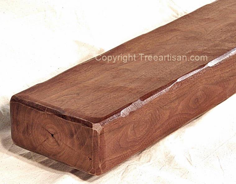 rustic reclaimed solid walnut fireplace mantel beam floating shelf rh treeartisan com walnut fireplace mantel shelf black walnut fireplace mantels