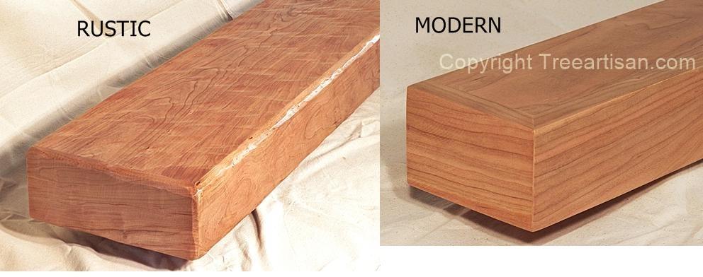 Rustic Or Modern Cherry Fireplace Mantel Beam Floating Shelf