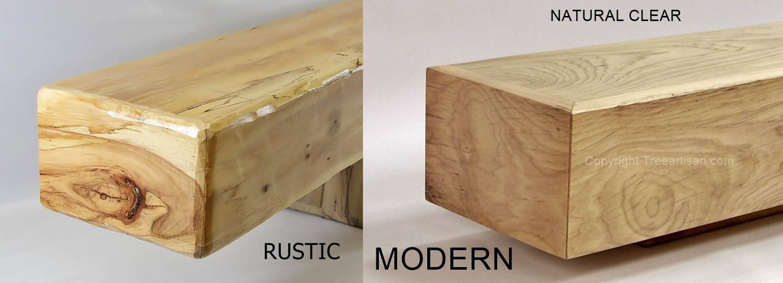 Rustic Or Modern Hickory Fireplace Mantel Beam Floating Shelf